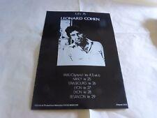 LEONARD COHEN - Publicité de magazine / Advert !!! VINTAGE 70'S !! JUIN 76 !!!