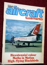 Aircraft Illustrated 1977 Jan Moth,SR-71,CL-44,Arkia,RAAF MB326