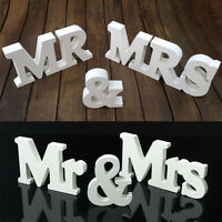 Wedding Mr & Mrs Nature Wood Letters Top Table Decoration Sign Freestanding Set