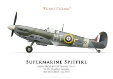 Print Spitfire Mk V 'Bombay City 4', No 122 Squadron RAF, 1942 (by G. Marie)