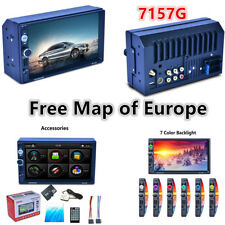 "7157G 7-Color backlight 7"" Touch TFT MP5 Player + Map of Europe Free ,Aux/USB/FM"