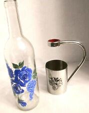 Beautiful Vintage Grape Design Wine Bottle Holder Pourer with Handle