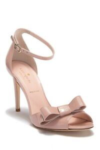 kate spade new york Ismay Suede High-Heel Bow Sandals $328 Size 9.5 # M2 193 Bl