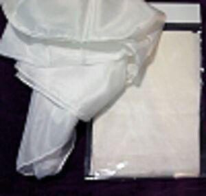 SEIDENTUCH Seidenschal 40x150cm Crepe de Chine 08 NEU reine Seide weiß