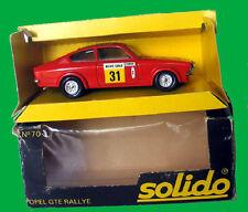 SOLIDO    OPEL GTE Rally de Monte-Carlo1978 / Ref:70