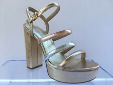 MICHAEL KORS Nantucket Pale Gold Silver Bronze Metallic Leather Shoes Size 8.5