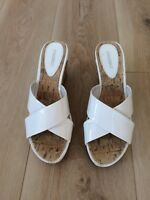 Sandals - White Wedge Size UK 6