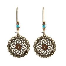 Drop Earring Dangle Ear Studs Fashion Turquoise Hollow Out Women Flower