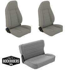1976-1995 Jeep Wrangler & CJ7 Reclining Front and Rear Seat Combo Kit Gray