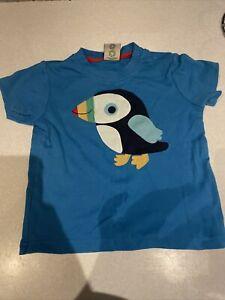 Boys Girls 12-18 Months (generous More 18-24) Blue Puffin  T-shirt Top