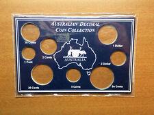 Empty Australian Decimal Coin Collection Coin Cards.....NO COINS