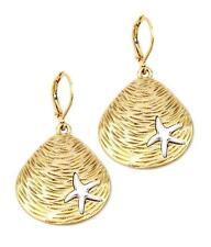 G1 Shell Starfish EARRINGS Dangly Fashion Ocean Beach Marine Sealife Gold NEW
