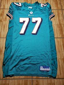 Reebok Miami Dolphins Jake Long Practice Football Jersey Size 50 Sewn NFL Mens