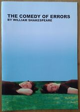 The Comedy of Errors programme Cambridge Arts Theatre 2005 Marlowe Society
