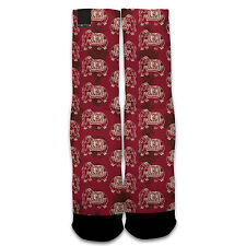 Function - Indian Elephant Pattern Subllimated Socks Tribal Henna Tattoo Allover