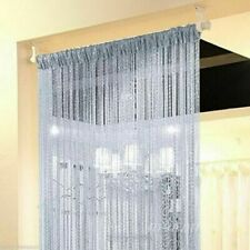 White Glitter String Door Curtain Bead Room Dividers Beaded Fringe Window Panel
