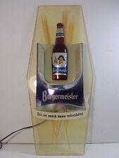 """RARE ORIGINAL Vintage 1960s """"Burgermeister Beer"""" Lighted / Light Up Bar Sign"""