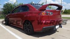 "Mitsubishi Lancer Evolution EVOX EVO X 3"" Burnt Tip Single Muffler Exhaust"