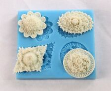 Ornaments Silicone Cake Mold Decorating Lace Impression Mat Baking Tool