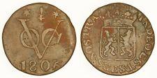 """NETHERLANDS VOC (GELDERLAND) - 1806 Duit - So-called """"New York Penny"""""""