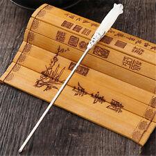1pc Chinese Classic Women Hairpin Hair Accessories White Jade Retro Stick 165mm