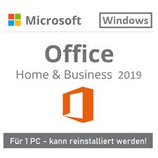 Microsoft Office 2019 Home and Business 1 PC | Windows | Original | EU | MS | DE