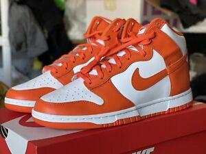 Nike Dunk High Retro SZ11.5 White Orange Blaze DD1399 101 Syracuse FREE SHIPPIN