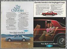 1977 CHEVROLET Caprice Classic advertisement x2, Chevy ad, CAPRICE