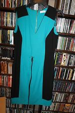 Calvin Klein Turquoise Knit Sheath Dress Sleeveless Ladies sz 12 NEW $108 (B128)