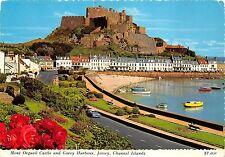B88911 mont orgueil castle gorey harbour jersey car ship c i  uk