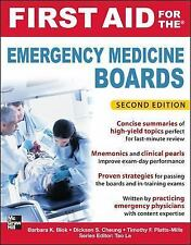 First Aid for the Emergency Medicine Boards 2/E First Aid Series