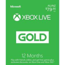 Microsoft Xbox Live Gold 12 Month Membership Subscription, Australia region only