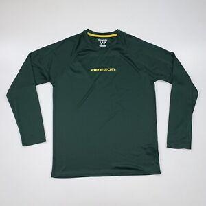 Champion Oregon Ducks Shirt Size Adult Medium Green Long Sleeve Training
