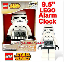 "LEGO Star Wars STORM TROOPER 9.5"" Digital Alarm Clock Minifigure Kid Bedroom New"