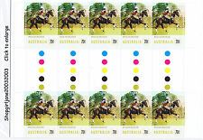 2014 - Australia - Equestrian Events - Polocrosse - gutter strip of 10 - MNH
