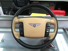 OEM Bentley Continental GT Steering Wheel assembly Leather Black Tan