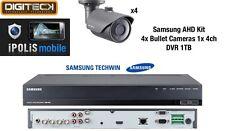 SAMSUNG 4x Telecamere Bullet & 1x 4 Channel DVR-CCTV sorveglianza analogica e l'1080p