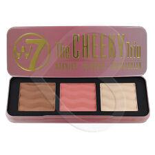 W7 The Cheeky Trio - Bronzer, Blusher, Highlighter Powder Palette Contour Make U