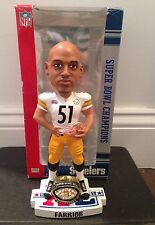 James Farrior Pittsburgh Steelers Super Bowl XL Champions Bobblehead NFL