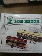 """2 Classic Streetcars Ho Scale """"Desire St"""" & """"San Francisco Railway"""" With Box"""