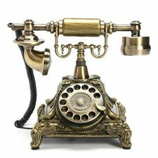 Vintage Resin Telephone Antique Retro Rotary Handset Desk European Style Phone