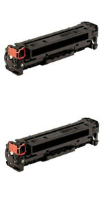 2 Compatible Black Toner To Replace HP CB540A,CE320A,CF210A ,Canon 716 BK,731 BK