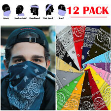 LOT 12 Pack Paisley Scarf Bandana Scarf 100% COTTON