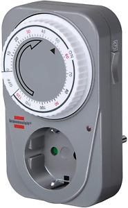 Brennenstuhl Countdown Timer, mechanische Timer-Steckdose (Timer für Steckdose)