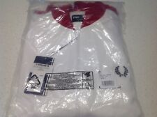 FRED PERRY L SIZE BOMBER JACKET, BRAND NEW WITH TAG, PACKED, WHITE RED BARGAIN