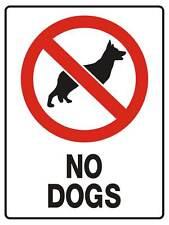 "Safety Sign ""NO DOGS POLYPROPYLENE 300MM X 225MM"""