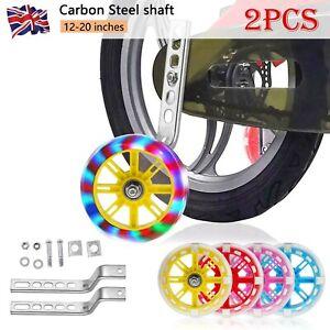 "LED Flashing Children Bicycle Stabilisers Kids Training Wheel 12-20"" Cycle Bike"