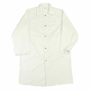Heavy Duty All-White Butcher Coat