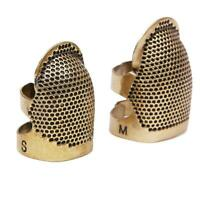 Brass Metal Thimble Retro Finger Shield Protector Hand Sewing Household Too R8O4
