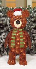 """Christmas Light-Up Fluffy Bear Indoor/Outdoor 30"""" Tall   Holiday Lighting"""